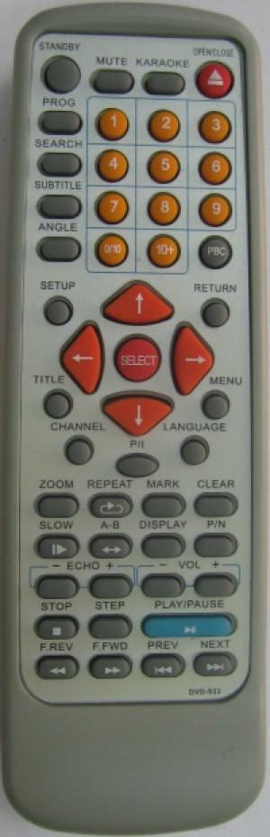 Дистанционно управление ELITE DVD-933
